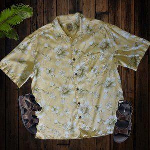 Men's Jos. A. Bank Silk Hawaiin Button Front Shirt